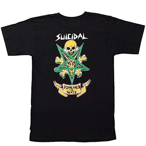 Dogtown X Suicidal Tendencies Possessed to Skate Skateboard T Shirt Black XL