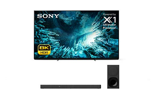 Sony XBR-75Z8H 8K Ultra High Definition HDR Z8H Series LED Smart TV with a Sony HT-G700 3.1 Channel Bluetooth Soundbar and Wireless Subwoofer (2020)