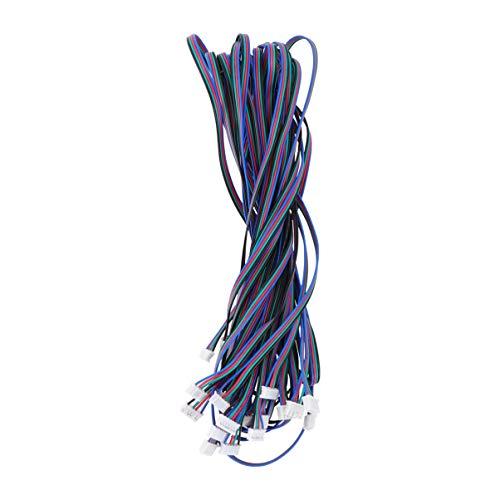 UEETEK 10 Pezzi Cavo per Stampante 3D Motore Passo-Passo HX2.54 4 pin a 6 pin terminale connettore cavo 1 M