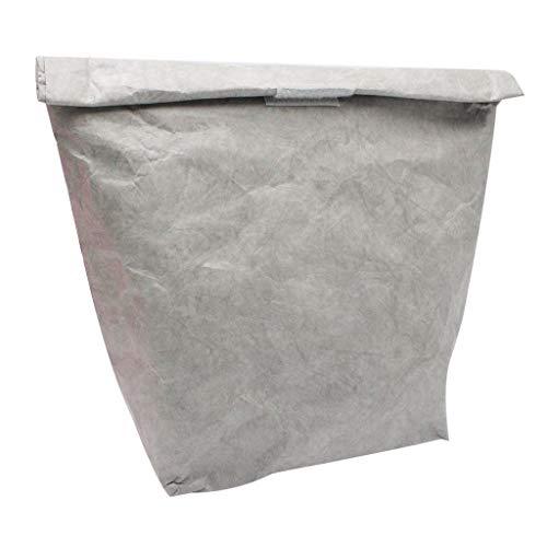 iYmitz ✿ Sacs Boîtes Repas Sacs de Pique Nique Sac à Lunch en Papier réutilisable Durable isolée Thermique Boîte à Lunch en Papier Kraft avec Film en Aluminium pour Pique-Nique au Bureau