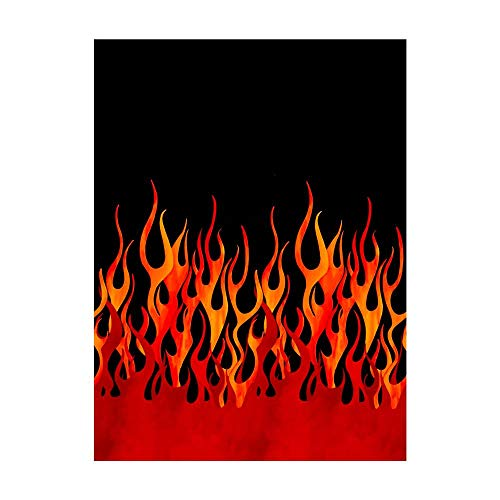 Michael Miller Quilt Fabrics 'Michael Miller Flames Single Border' Quilt Fabric, Black