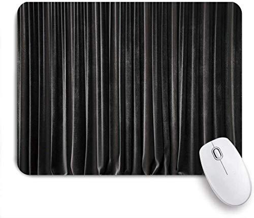 Mauspad schwarzer kinovorhang mit grauer holzbrettplanke angepasste art mousepad rutschfeste gummibasis für computer laptop schreibtisch schreibtischzubehör