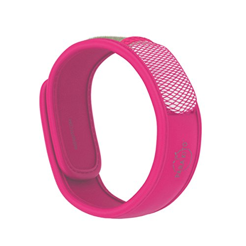 PARA'KITO Mosquito Insect & Bug Repellent Wristband - Waterproof, Outdoor Pest Repeller Bracelet w/Natural Essential Oils (Fuchsia)