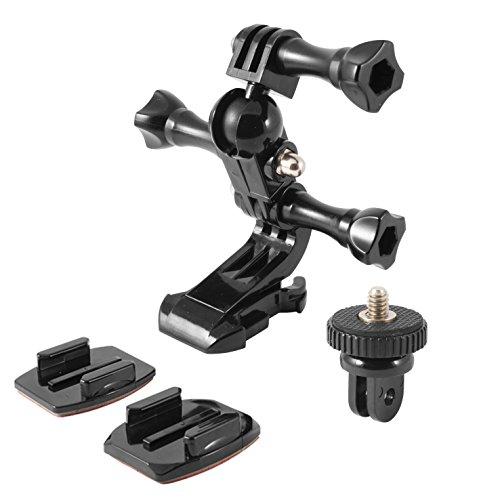 Ksix BXGOPACK - Pack de Soporte, Adhesivos y Adaptador para GoPro y...