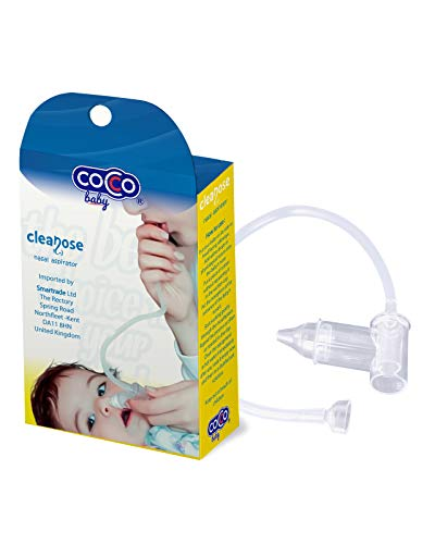 Coccobaby cleanose aspirateur nasal avec tube,mouche bébé pour soulager le rhume et soigner le nez...
