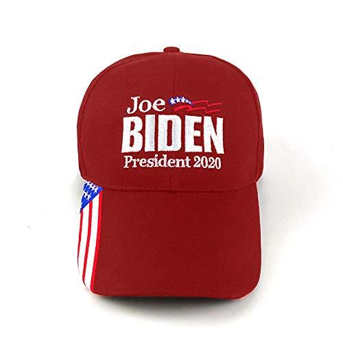 Gorra de béisbol Biden 2020 Elección Presidencial de EE. UU. Gorra Transpirable de Malla con patrón Personalizado al por Mayor Deportes al Aire Libre de Verano-Rojo
