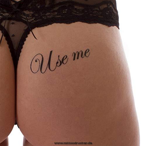 5 x Use me Tattoo Schriftzug in schwarz - Sexy Kinky Tattoo (5)