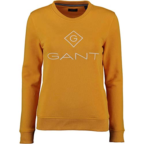 GANT Lock up C-Neck Sweat Warm Sun, Gr.M