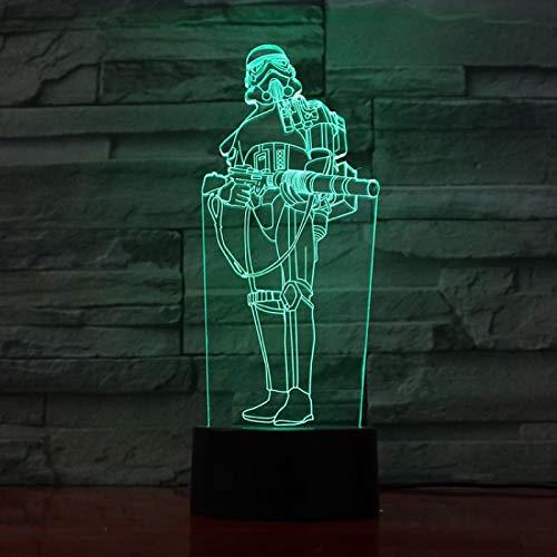 Luz de noche Ilusión óptica Lámpara 3D 7 colores Cambio de control táctil Luz de mesa LED Lámpara para dormir Decoración del hogar Cumpleaños/Navidad/Regalos de fiesta para niños (269)