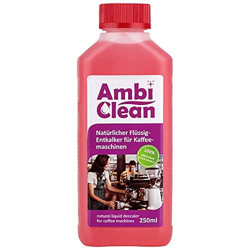 AmbiClean Flüssigentkalker (Entkalker für Kaffeevollautomaten Kaffeemaschinen Wasserkocher Dampfbügeleisen und mehr), 250ml