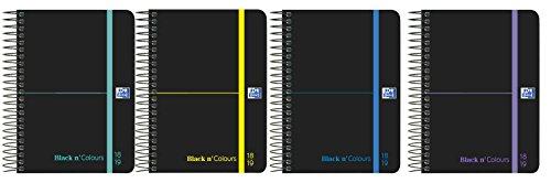 Oxford Black N'Colors - Agenda escolar, semana vista con espiral y tapa plástico, A6