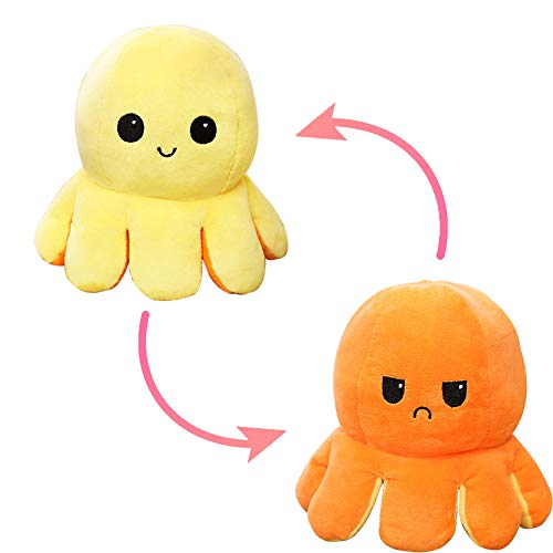 Weilisi Wendbarer Oktopus Plüschtier, Oktopus, wendbar, Plüsch, doppelseitig, für Kinder, Mädchen, Jungen, Freunde