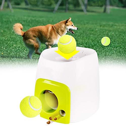 Lanzador automático de Pelotas de Tenis para Perros Máquina interactiva de Juguetes para Buscar, Lanzador automático de Pelotas para Perros, Lanzador de Pelotas para Perros de Juguete para Mascotas