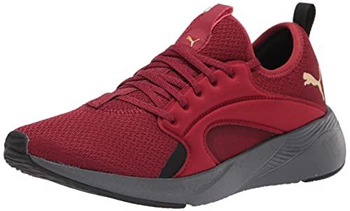 PUMA Women's Better Foam Adore Running Shoe, Intense Red Team Gold, 8.5