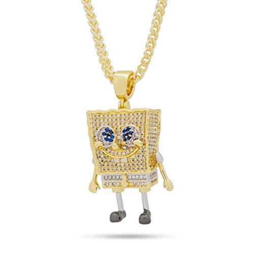 King Ice (キングアイス) ×SpongeBob SquarePants (スポンジ・ボブ) ネックレス ゴールド The Spongebob Squarepants Necklace (O/S (ワンサイズ)) [並行輸入品]