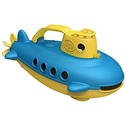 Green Toys 8601033 U-Boot, Badewannenspielzeug, Spielboot, nachhaltiges Badespielzeug für Kinder ab 6 Monaten, gelb