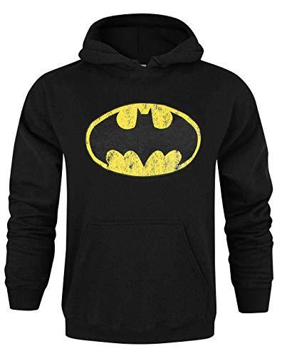 Batman - Sudadera con Capucha para Hombre, diseño de Logo, Color Negro