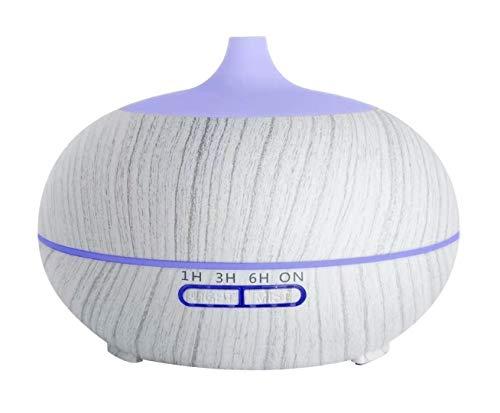 Sealive - Umidificatore per aromaterapia a ultrasuoni, diffusore di Oli Essenziali, 550ml, 7 Colori LED, Sicuro ed Elegante, 3 impostazioni di Tempo Fisso, autospegnimento purificare l'aria