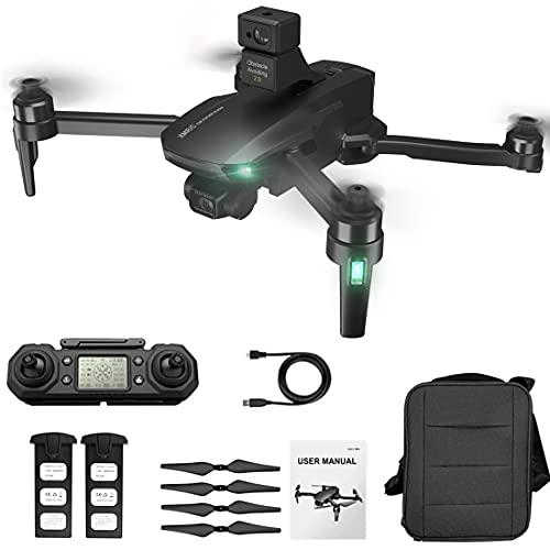 Bybo Drone M9 con fotocamera 4K per adulti, 3 assi, funzione di prevenzione degli ostacoli, 5G WiFi GPS FPV brushless RC Quadcopter, posizione ottica del flusso, tempo di volo 25 minuti