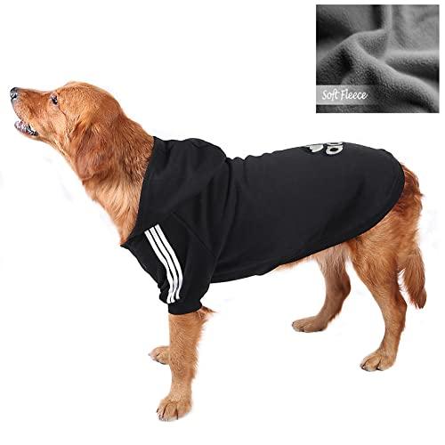 Owbb® Mittlerer Hund Kapuzenpullis, Hunde Hoodie warm,Bekleidung Fleece Sweater Hundepullover Baumwolljacke Shirt von XS bis 9XL