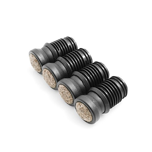 Design61 Stuhlgleiter 4er Set für Rohrinnen-Ø 16-17 mm Filz Möbelgleiter Gelenkgleiter Filzgleiter Bodenschutz Bodenschongleiter zum Einstecken
