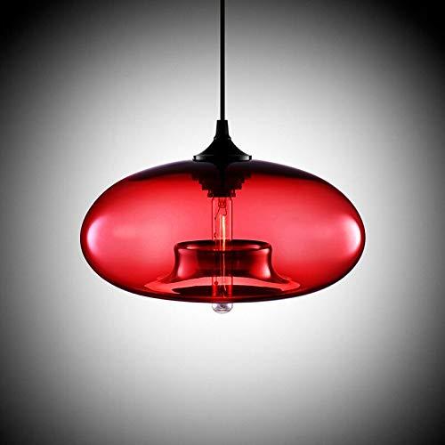 Lampada a sospensione moderna in vetro soffiato color ambra vintage 60W 220V