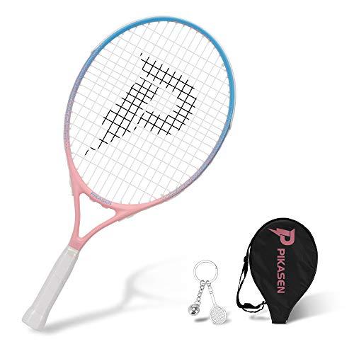 """PIKASEN 21"""" Kids Tennis Racket Best Starter Kit for Kids Age 8 and Under with Shoulder Strap Bag and Mini Tennis Racket Toddler Tennis Raquet"""