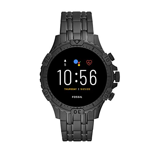 Fossil Gen 5 Garrett Stainless Steel Touchscreen Smartwatch with...
