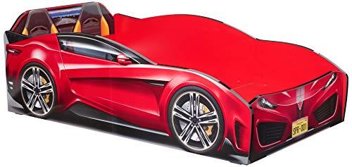 Cilek Spyder Race Car Toddler Bed Frame, Toddler, Red