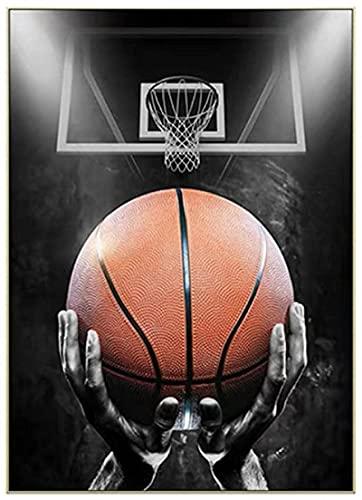 HHGGF Jugador de Baloncesto transforma Baloncesto Dream Art Poster Arte de la Pared para la Sala de Estar Decoración del hogar Impresión de Regalo en lienzo-50x75CM Sin Marco