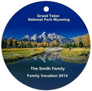 Yilooom Grand Teton National Park Flat Porcelain Ceramic Ornament Round-Christmas/Holiday/Love/Anniversary/Newlyweds/Keepsake - 3