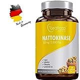 Redfood Nattokinase 100mg 2000 FU 290 Kapseln Vegan hohe Bioverfügbarkeit ohne Magnesiumstearat ohne K1 K2 mit Analyse Zertifikat