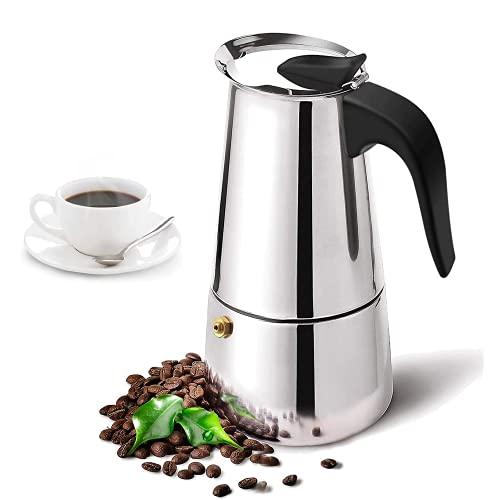 Caffettiera induzione. Caffettiera in Acciaio Inossidabile Inox. Caffettiera da 12 tazze, tazzine....