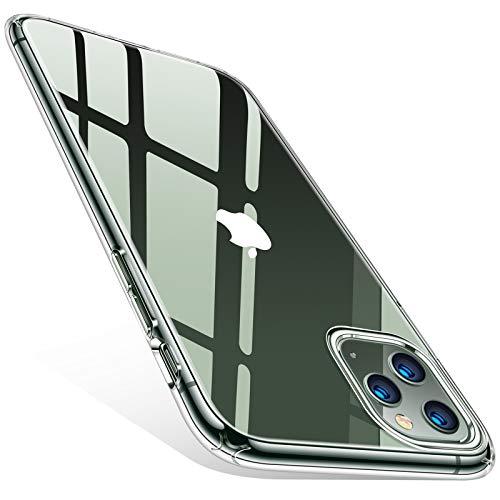 TORRAS Crystal Clear für iPhone 11 Pro Hülle Transparent [Anti-Gelb und Ultra Dünn] Handyhülle iPhone 11 Pro Hülle Weiches Silikon Klar Slim Stoßfest Kratzfest Schutzhülle iPhone 11 Pro-Transparent