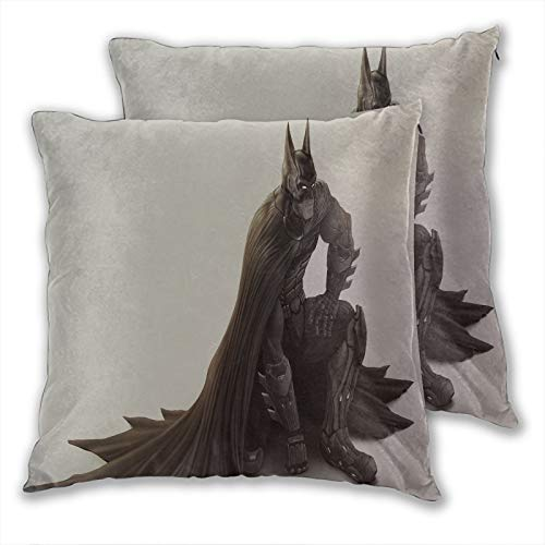 anzonto Decorative Pillow Covers Batman Looking Down Sketch for Couch Sofa Bed Chair Decorative 24x24inch(60x60cm) 2 Pieces