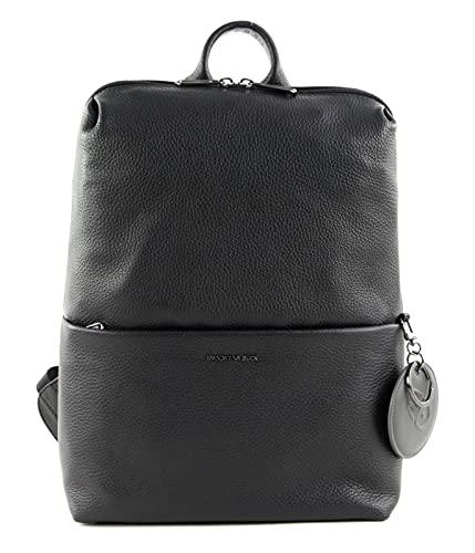 Mandarina Duck Mellow, Melow Leather Backpack/Negro para Mujer, Talla única