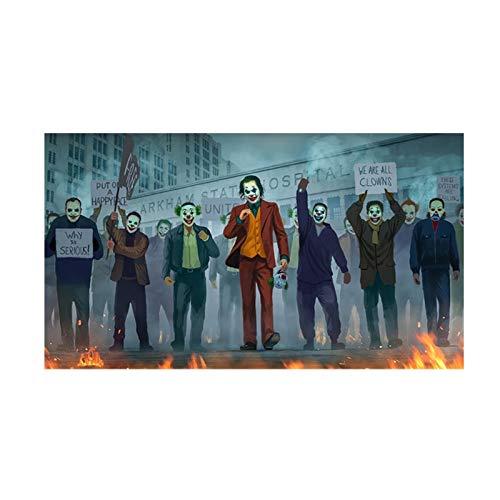 ART Joker filmposters en prints canvas schilderij muurkunst voor woonkamer slaapkamer modern decoratief beeld 50x90cm