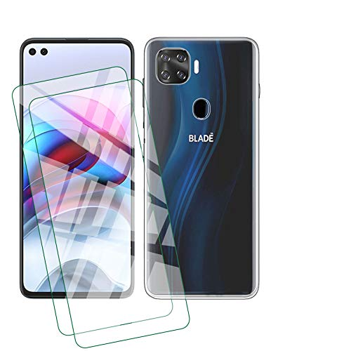 ELANG Shockproof Crystal Slim Protective Phone Cover Cases for ZTE Blade X1 5G (6.5 inches),Waterproof Case with 2 Tempered Glass Screen Protector
