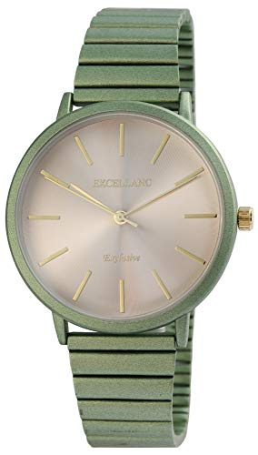 Excellanc Damen - Uhr Zugarmband Zugbanduhr Metall Analog Quarz Armbanduhr 1800172