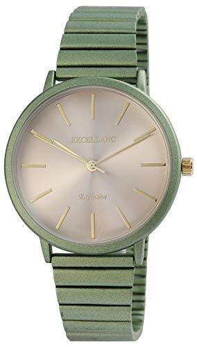 Excellanc Damen - Uhr Zugarmband Metall Analog Quarz Armbanduhr 1800172