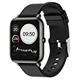 N\A LINhuahua Smartwatches, 3,3 cm Full Touch Screen Smart Watch, Fitness-Tracker mit Pulsmesser, wasserdicht IP67 Fitness Tracker Uhr für Apple, Android Handy
