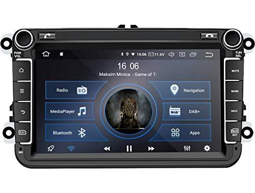 M.I.C. AV8V6 Android 10 Autoradio Radio Navigationssystem:DSP DAB+ digitalradio BT 5.0 WLAN 8 Zoll IPS Panzerglas Bildschirm AHD 4G+64G USB sd GPS Tuning für VW Skoda SEAT Polo Golf Passat touran t5