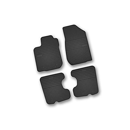Bär-AfC DA06122n Gummimatten Auto Fußmatten Schwarz, Erhöhter Rand, Set 4-teilig, Passgenau für Modell Siehe Details