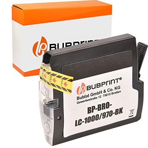 Bubprint Kompatibel Druckerpatrone als Ersatz für Brother LC-1000BK LC-970BK für DCP-130C DCP-135C DCP-150C DCP-330C DCP-350C DCP-540CN MFC-235C MFC-240C Schwarz