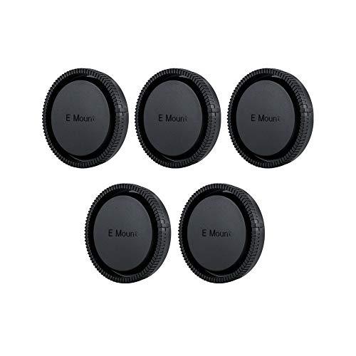 JJC Objektivdeckel (hinten) für Sony E Mount Objektiv [Siehe Beschreibung für mehr Kompatibilitäts Objektiv] - 5 Stück pro Paket