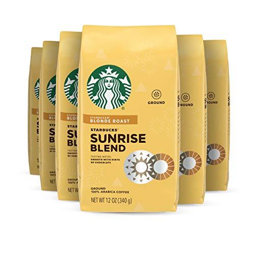 Starbucks Blonde Roast Ground Coffee — Sunrise Blend — 6 bags (12 oz. each)