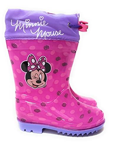 Minnie Mouse Wasserstiefel für Mädchen, mit rutschfester Sohle und verstellbarem Verschluss., bunt, 24 EU