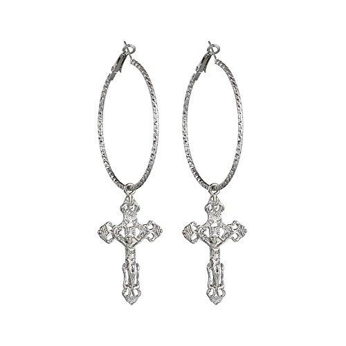 TUTU Fashion jewelry earrings cross retro temperament alloy earrings earrings (gold/silver)