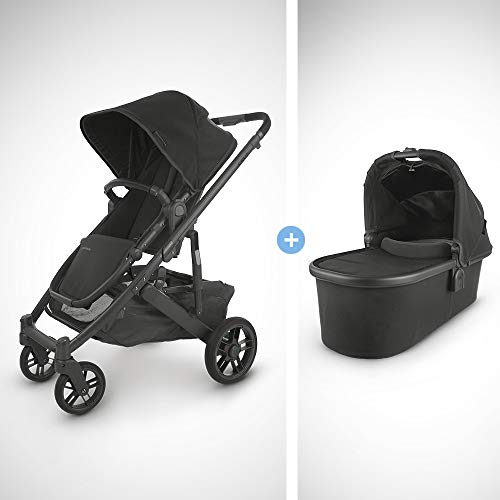 Purchase UPPAbaby Cruz V2 Stroller - Jake (Black/Carbon/Black Leather) + Bassinet - Jake (Black/Carb...