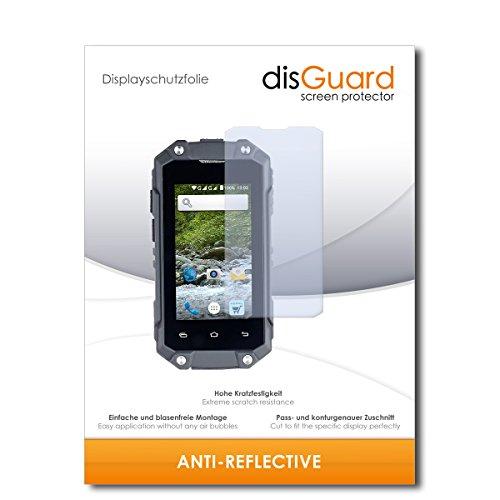 disGuard® Bildschirmschutzfolie [Anti-Reflex] kompatibel mit Simvalley Mobile SPT-210 [3 Stück] Entspiegelnd, Matt, Antireflektierend, Extrem Kratzfest, Anti-Fingerabdruck - Panzerglas Folie, Schutzfolie
